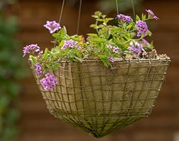 Square net hanging basket