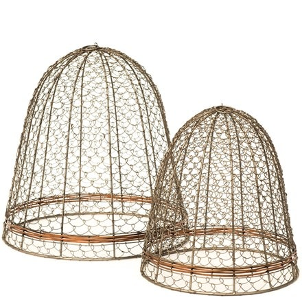 Cloche with copper belt - scroll weave