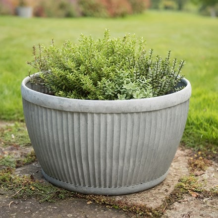 Galvanised dolly bowl