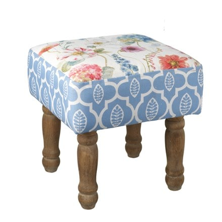 Pretty floral footstool