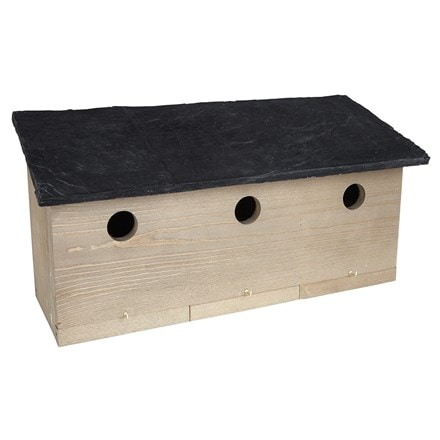 Sparrow colony nest box slate effect roof