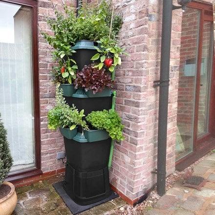 Rainwater terrace 3-tier water butt planter