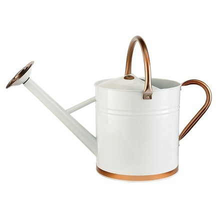 Metal watering can - cream