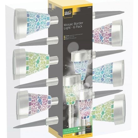 Solar mosaic border lights