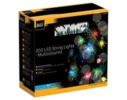 Dual power 200 LED string lights
