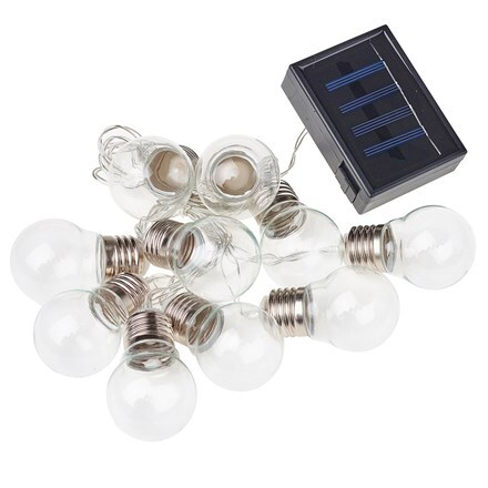 Dual power 10 clear bulb string lights