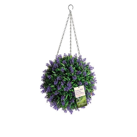 Artificial lavender topiary ball