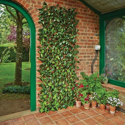 Artificial birch leaf trellis