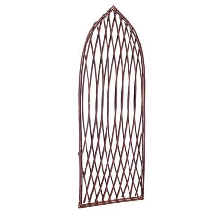 Framed willow lattice trellis panel gothic top 1.2m