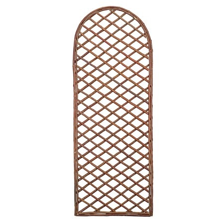 Framed willow lattice trellis panel curved top 1.2m