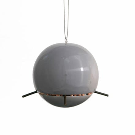 Birdball peanut feeder grey