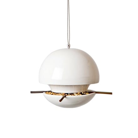 Birdball seed feeder white