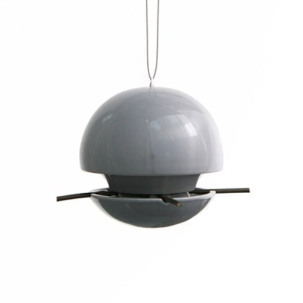 Birdball seed feeder grey