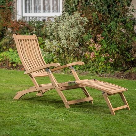 RHS Kettler chelsea acacia steamer chair