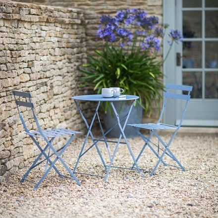 Bistro set - dorset blue