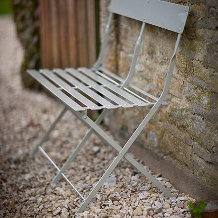 Folding bistro bench