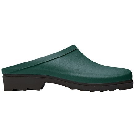 Green rubber clogs