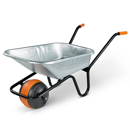 Boxed galvanised duraball wheelbarrow