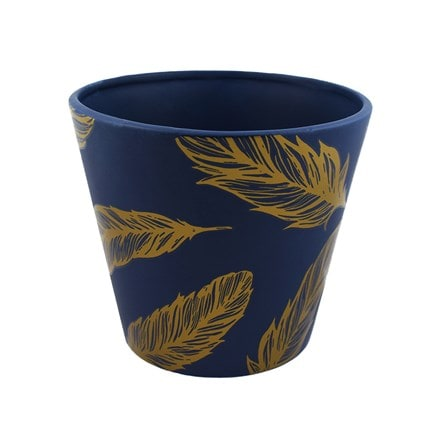 Gold feather planter