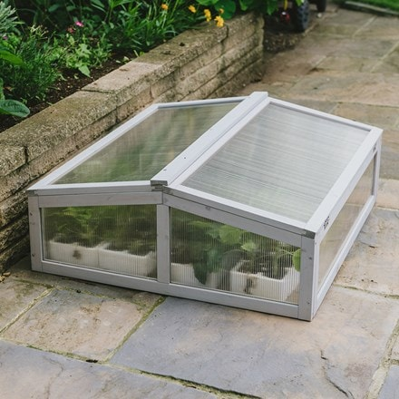 Solid wood coldframe