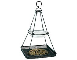 Hanging bird feeding station