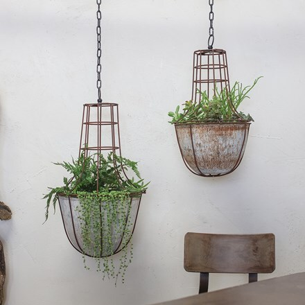 Abari caged hanging planter