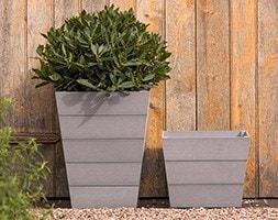 Mews planters grey set of 2
