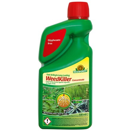 Fast acting and long lasting weedkiller concentrate