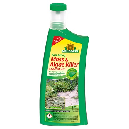 Fast acting moss and algae killer concentrate