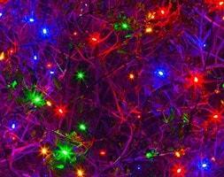 Solar powered multi colour LED lights
