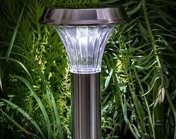 Solar stainless steel post light - 50 lumens