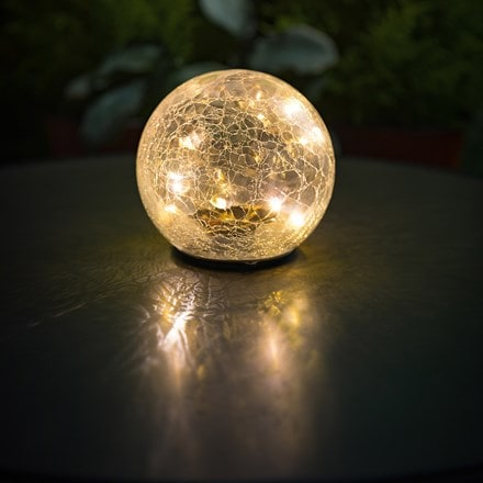 Solar ice crackle ball table light