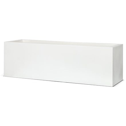 Cadix white low rectangular planter