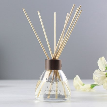 Personalised vintage rose design reed diffuser