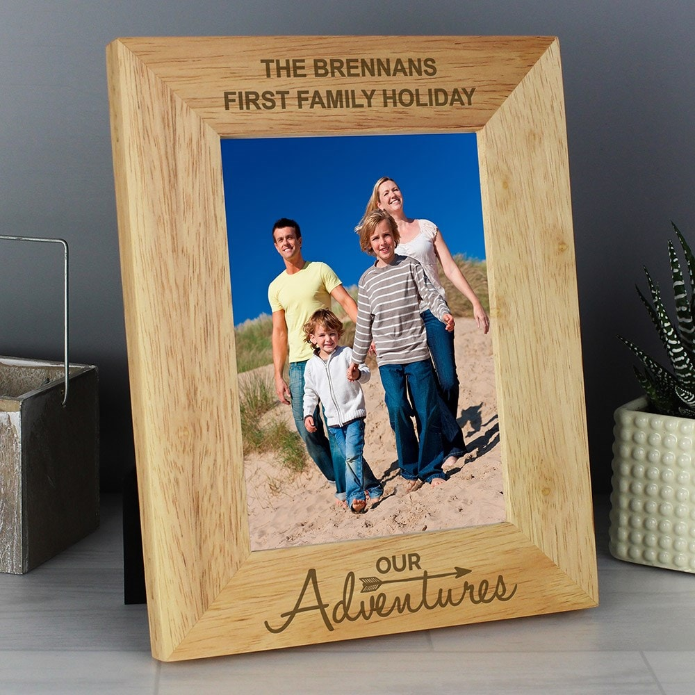 Buy Personalised Our Adventures 5x7 Wooden Photo Frame
