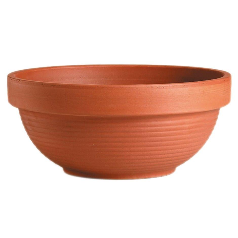 Bowl ribbed terracotta ciotola gigante