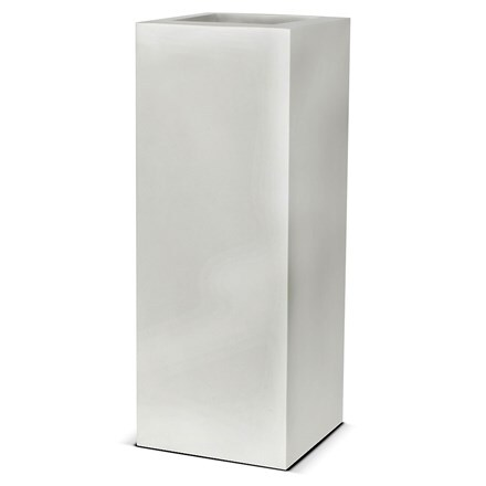 Cadix white rectangular planter