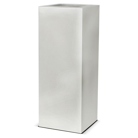White rectangular planter