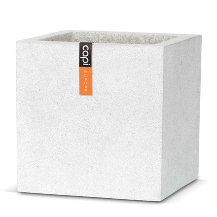 Cadix grey square planter