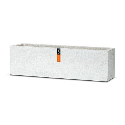Cadix grey low rectangular planter