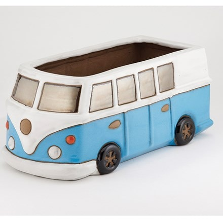 Glazed camper van planter