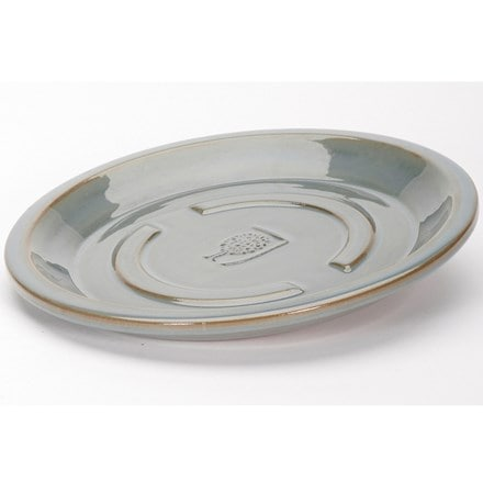 RHS antique grey round saucer
