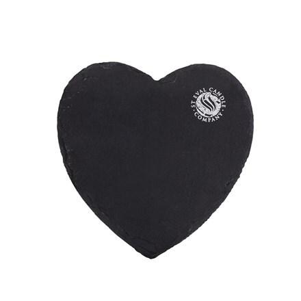 St Eval heart slate plate