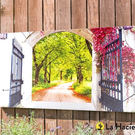 Outdoor canvas gateway