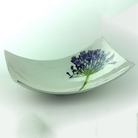 Recycled agapanthus rectangular dish