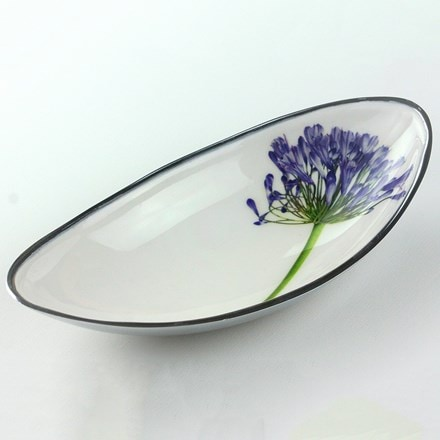 Recycled agapanthus boat bowl