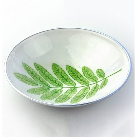 Recycled leaf bowl round
