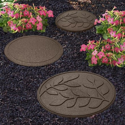 Recycled reversible stepping stone leaves
