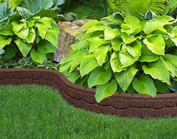 Recycled garden border flexi curve rockwall