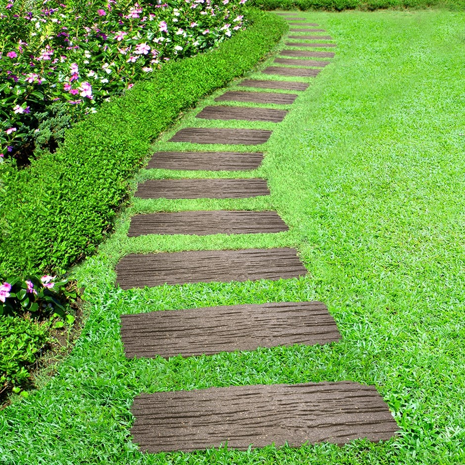 Making A Wonderful Garden Path Ideas Using Stones: Buy Recycled Rail Road Tie Stepping Stone: Delivery By